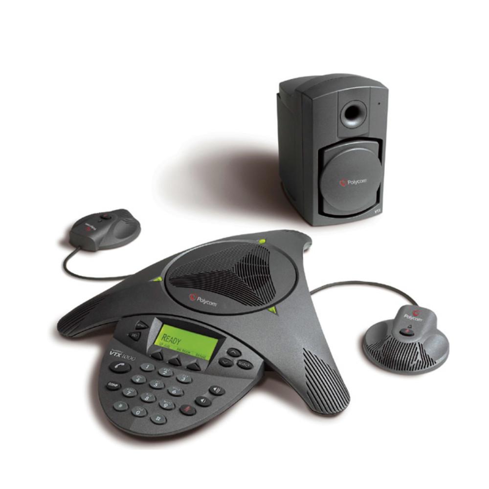 Polycom Soundstation VTX 1000 with mics and subwoofer