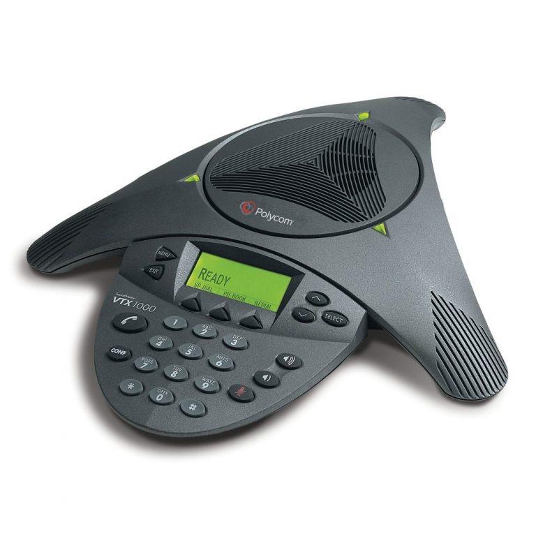Polycom Soundstation VTX 1000 with mics & subwoofer