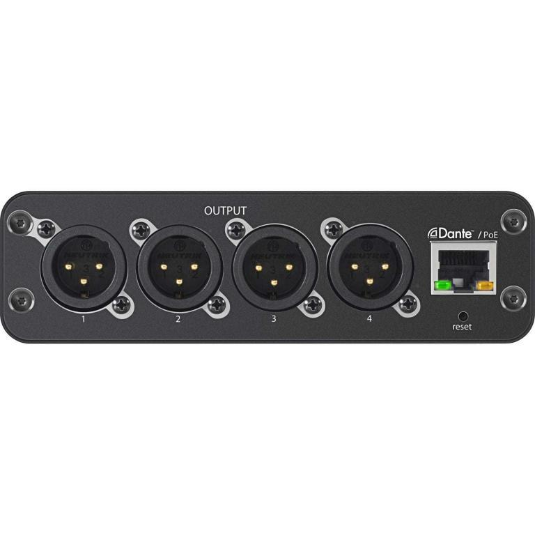 Shure ANI4OUT-XLR Audio Network Interface backplane