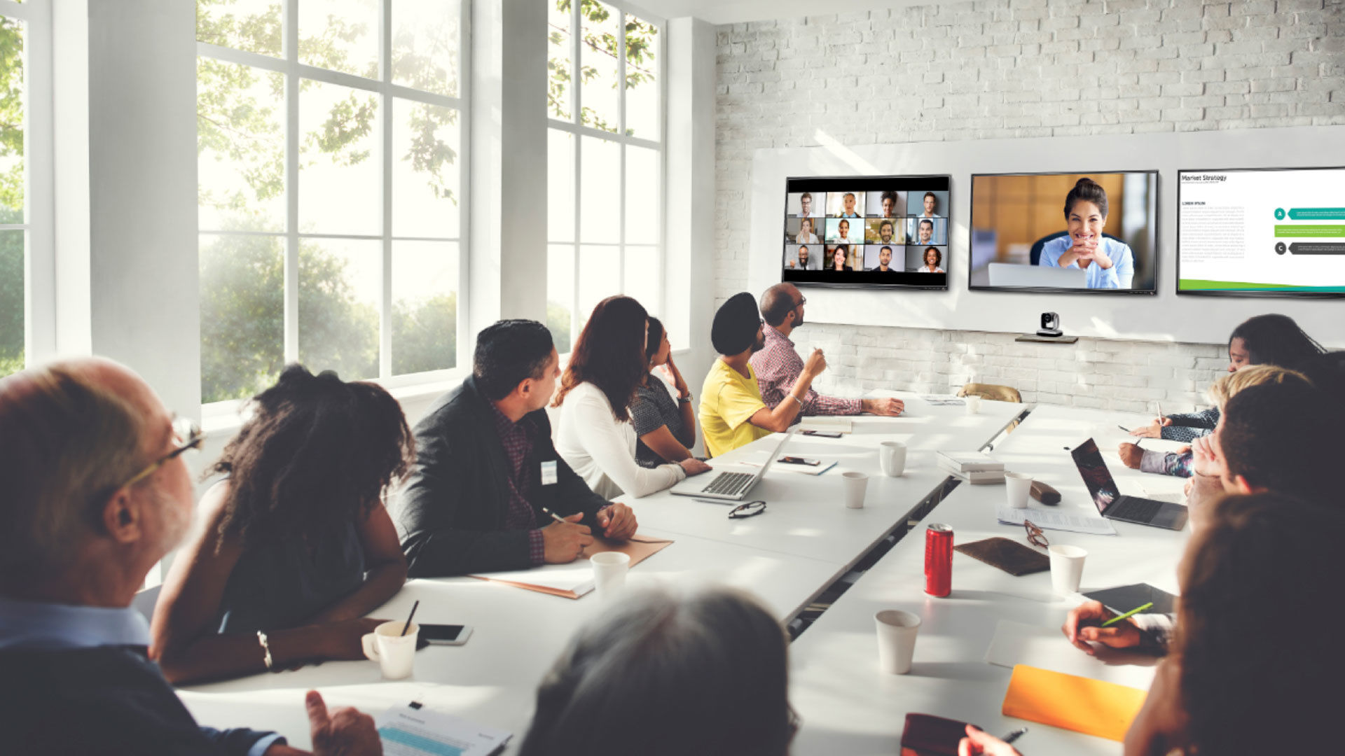 Zoom video conferencing solutions equipment optimized for zoom rooms