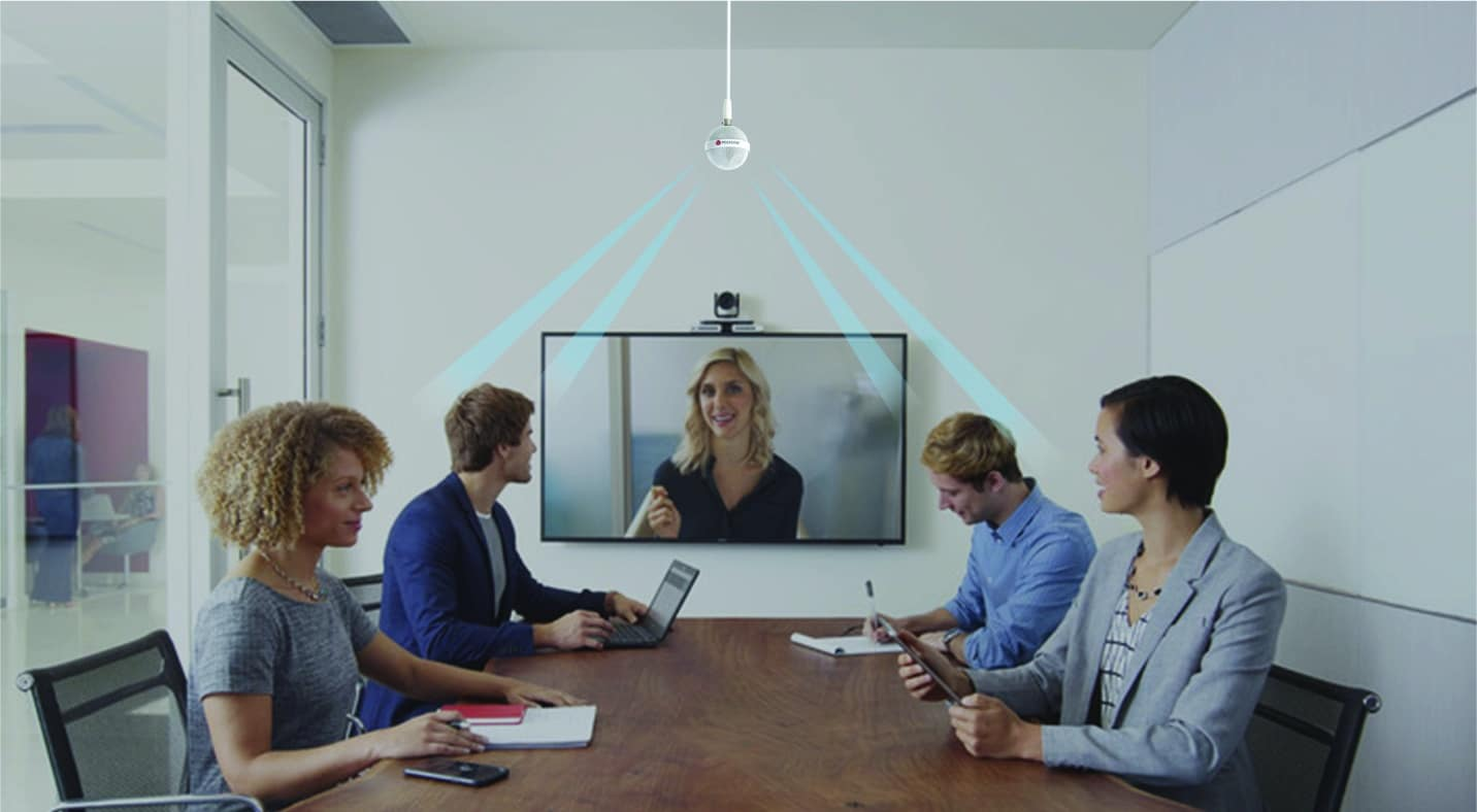 The Polycom Ceiling Microphone Is The Best Microphone For Any Meeting Space