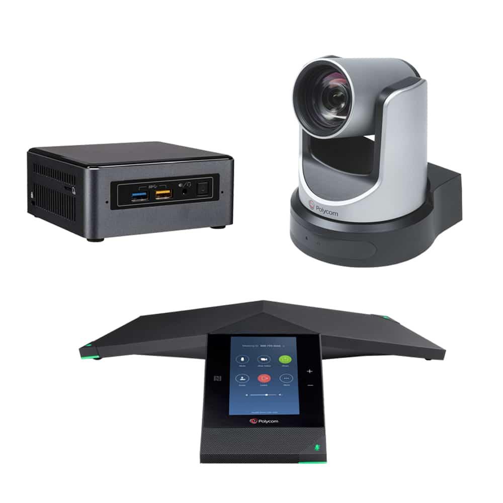 Zoom Rooms Kit - Polycom Trio 8800 + EagleEye IV USB Camera & Intel NUC