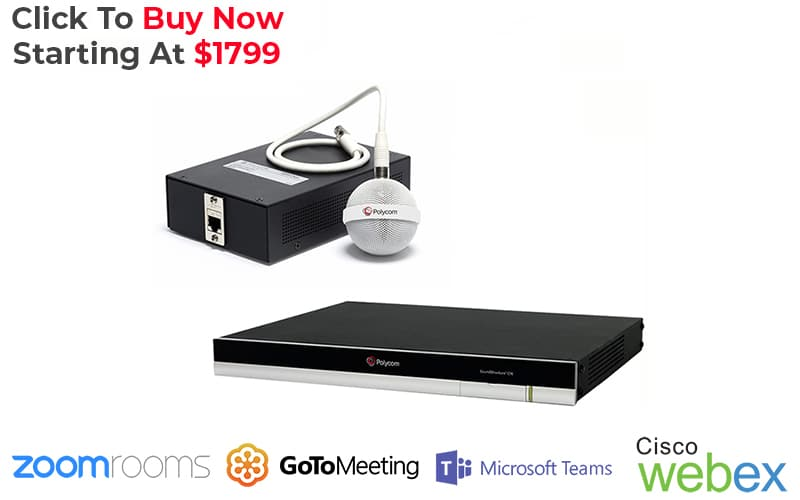 polycom soundstructure c8 + ceiling microphone PC audio system kit is perfect for Zoom Rooms, GoToMeeting, Microsoft Teams, Cisco Webex, and more