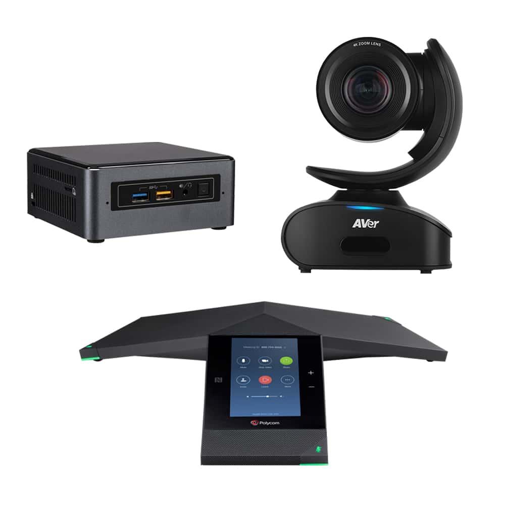 Zoom Rooms Kit - Polycom Trio + AVer CAM540 & Intel Nuc