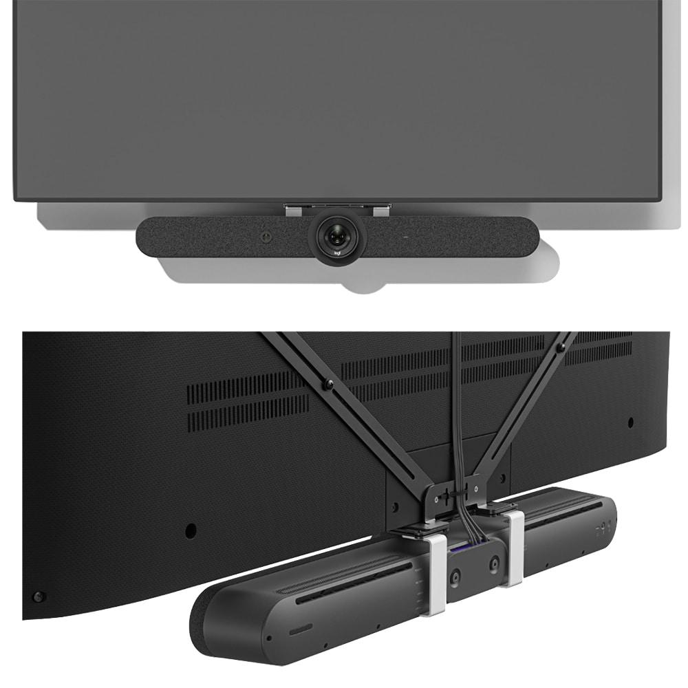 Logitech TV Mount for Video Bars in Use