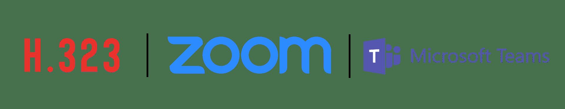 H323 x Zoom x Teams logos